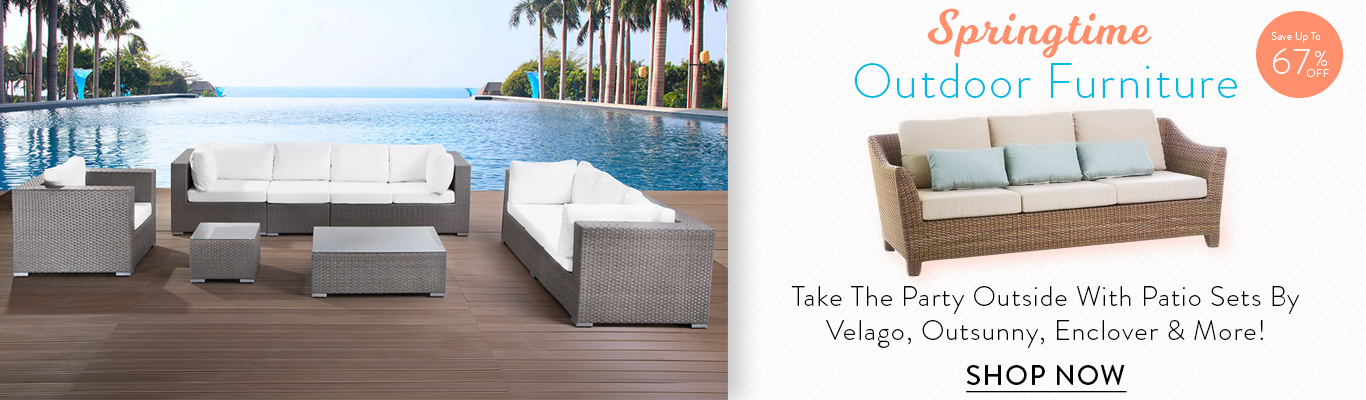 Get up to 76% off patio furniture