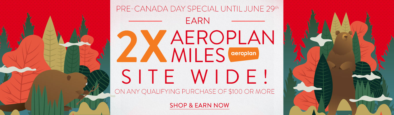Earn 2x Aeroplan Miles on all Purchases over $100