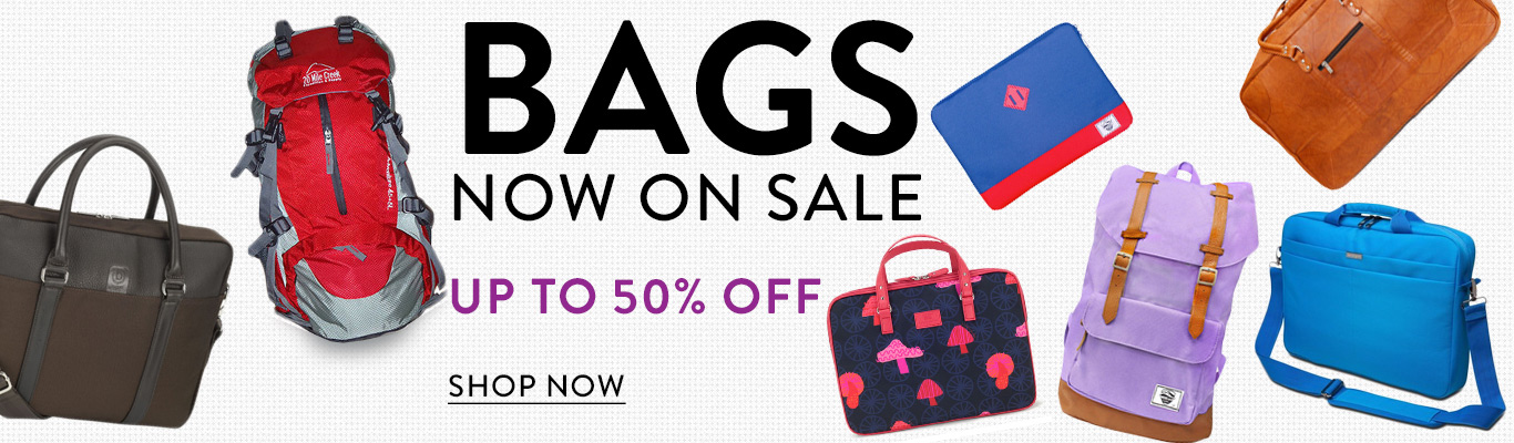 Save up to 50% on luggage and bags