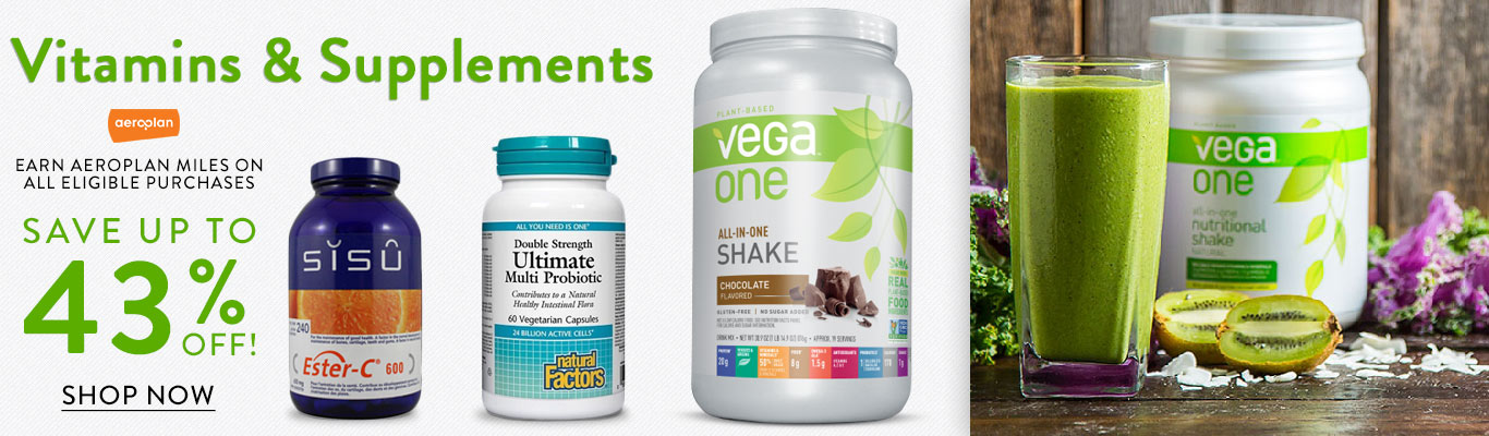 Save up to 43% on Vitamins, Supplements and Protein Powder