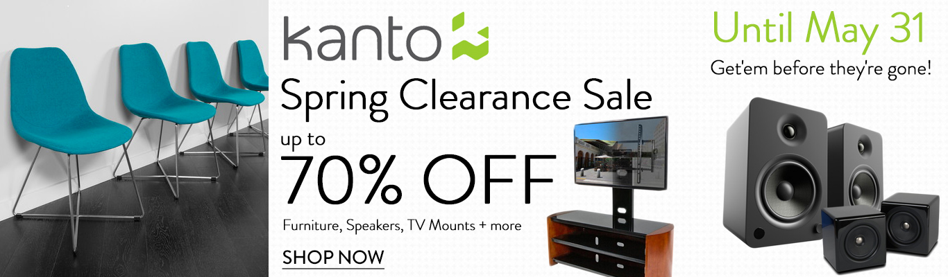 Save up to 70% on Kanto furniture and electronics