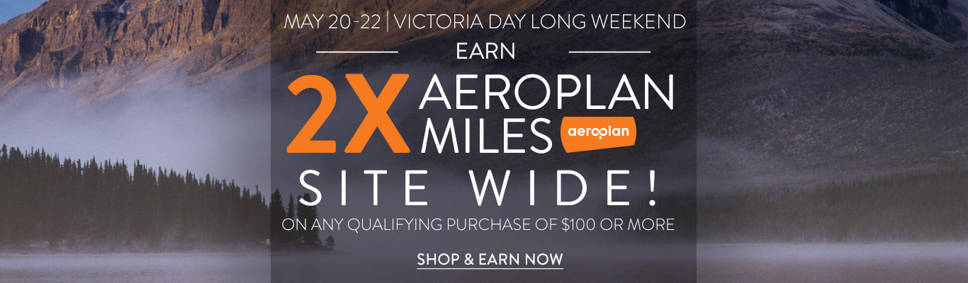 Earn 2x Aeroplan Miles on all eligible purchases over $100