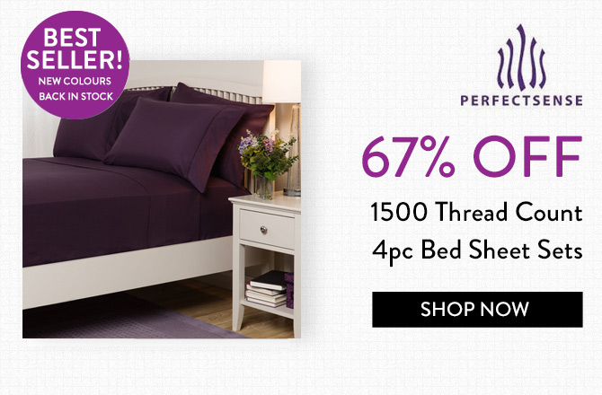 1500 Thread Count 4pc Bed Sheet Sets