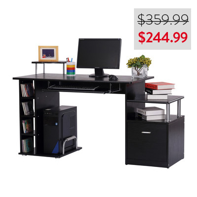 HomCom Multi-Level Desk