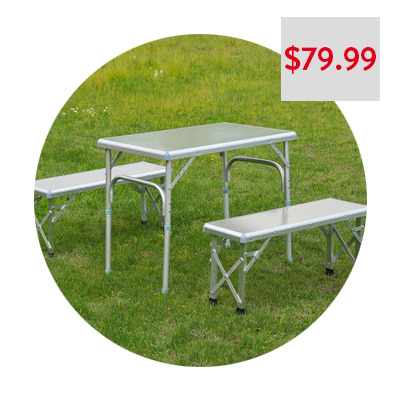 OutSunny Folding Picnic Table