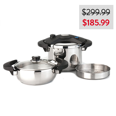 BergHOFF Eclipse 5pc Pressure Cooker Set