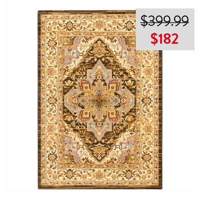 eCarpetGallery Power Loomed Persia Serapi Cream Rug