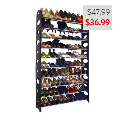 Linen Depot 50-Pair Shoe Rack