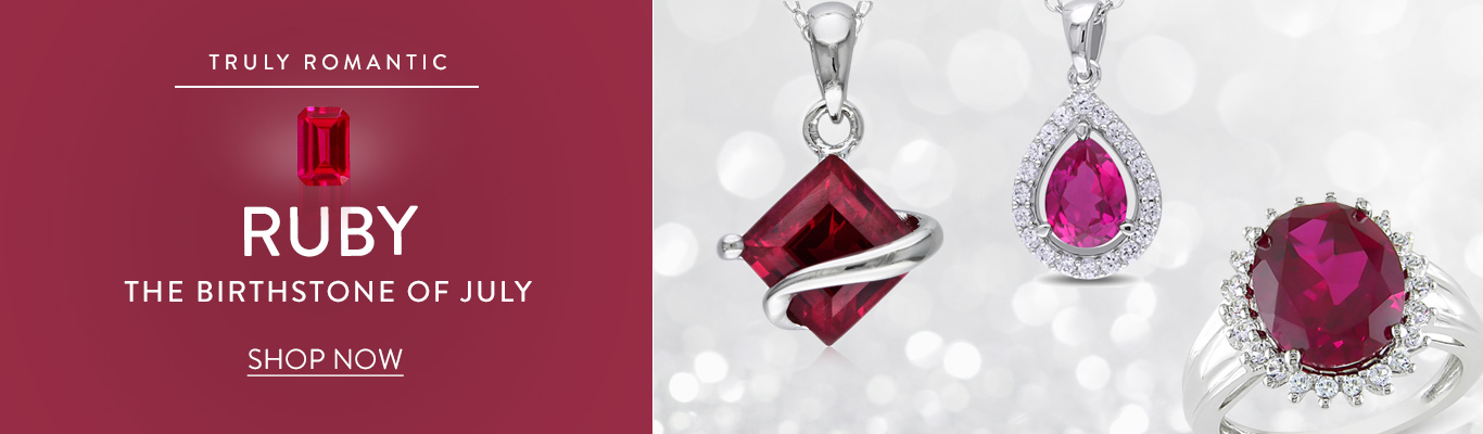 The July birthstone is Ruby